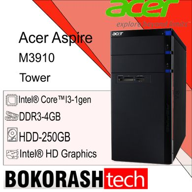 Системний блок Acer Aspire M3910  Tower - 1156 / DDR3-4GB / HDD-250GB / Intel core  i3-1gen (к.00100436)